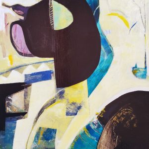 Intercut - An original abstract painting by Kathryn Gruber