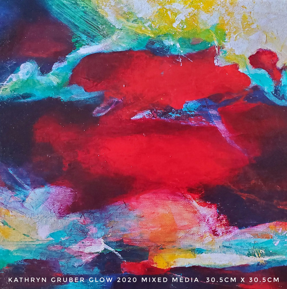 Abstract painting 'Glow' by Kathryn Gruber