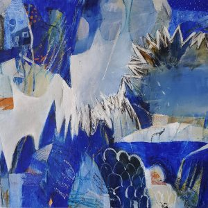 Worlds within worlds. An abstract painting by Kathryn Gruber