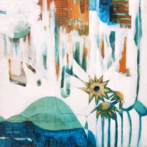 'Starflower' is an original abstract painting by Kathryn Gruber