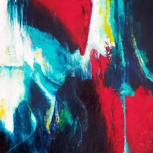Neurodiversity, an abstract painting by Kathryn Gruber