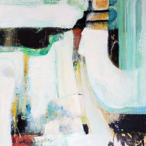 'Exuberant' is an original abstract painting by Kathryn Gruber