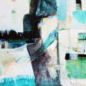 'Poolside' is an original abstract painting by Kathryn Gruber