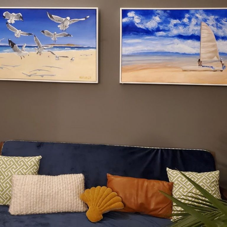 beach paintings by Kathryn Gruber